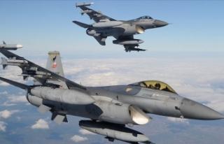 Irak'ın kuzeyine düzenlenen hava harekatında...