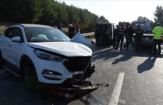 Kick Boks Milli Takım Antrenörü Karlı trafik kazasında...