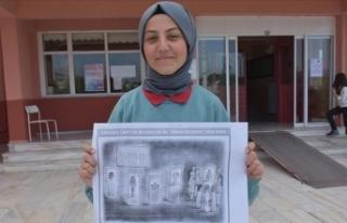 Lise öğrencisinin karikatürü dünya birincisi...