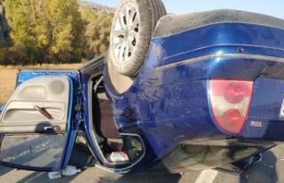 Otomobil takla attı: 1 ölü, 4 yaralı!