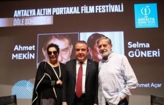 Selma Güneri ve Ahmet Mekin sinemaseverlerle buluştu