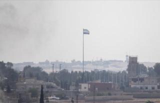 Tel Abyad'ın batısında bununan YPG/PKK'ya...