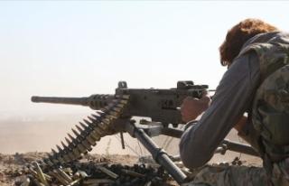 Barış Pınarı Harekatı bölgesinde YPG/PKK'lılarla...