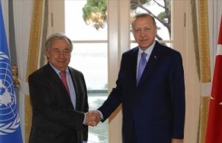 Cumhurbaşkanı Erdoğan BM Genel Sekreteri Guterres'i...
