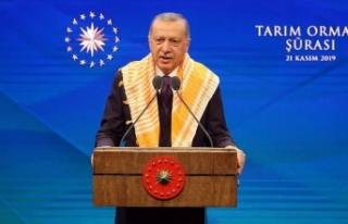 Cumhurbaşkanı Erdoğan: Tarım arazilerinin bölünmesi...
