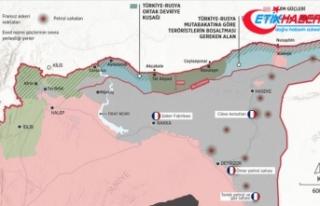 Fransız askerleri Suriye'de ABD himayesinde...