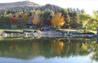 Kırşehir'deki Japon Bahçesi'nde sonbahar...