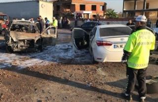 Savcının kullandığı cip ile otomobil çarpıştı:...