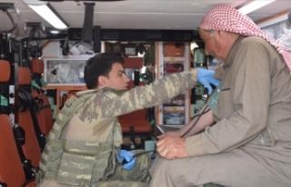 Tel Abyad ve Rasulayn'da köy köy sağlık taraması...