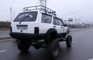 1996 model aracını off-road cipine çevirdi, görenler...