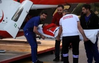 Antalyasporlu Jahovic ambulans helikopterle Antalya'ya...