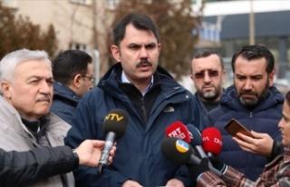 Çevre ve Şehircilik Bakanı Kurum: Elazığ'ın...