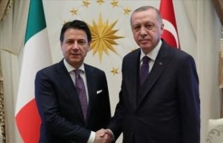 Cumhurbaşkanı Erdoğan, İtalya Başbakanı Conte'yi...