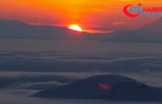 Iğdır'da oluşan sis tabakası görsel şölen...