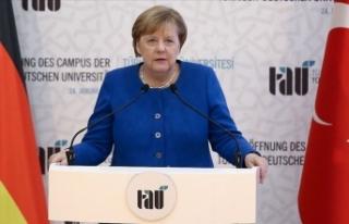 Merkel: Türk-Alman Üniversitesi Türk-Alman ortaklığını...