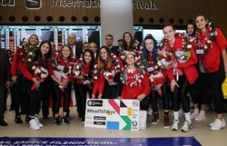 Olimpiyat vizesi alan A Milli Kadın Voleybol Takımı,...