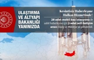 Ulaştırma ve Altyapı Bakanlığı: Deprem bölgesinde...
