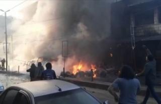 Afrin'de bombalı terör eylemi sivilleri hedef...