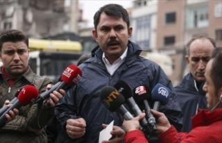 Çevre ve Şehircilik Bakanı Kurum: Elazığ'da...