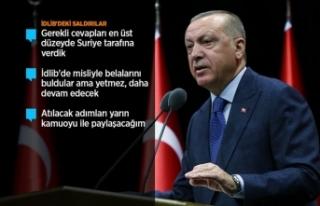 Cumhurbaşkanı Erdoğan: İdlib'deki saldırıların...