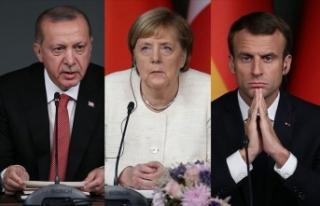 Cumhurbaşkanı Erdoğan, Macron ve Merkel ile telefonda...