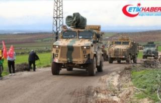 Suriye sınırına 300'ü aşkın araçlık askeri...