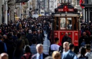 Türkiye'nin nüfusu 83 milyon 154 bin 997 kişiye...