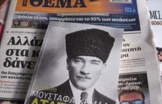 Yunan gazetesi Atatürk'ün hayatını anlatan...