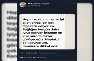"""Abdurrahim Albayrak: """"Sağlığım her gün daha..."""