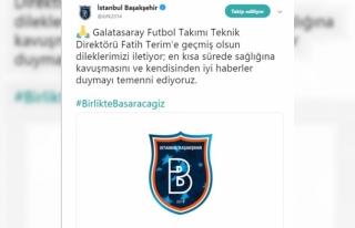 Başakşehir'den Fatih Terim'e geçmiş olsun...