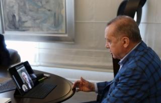 Cumhurbaşkanı Erdoğan, yeni Bakan ile video konferans...