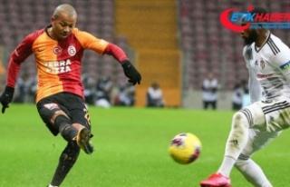 Galatasaray-Beşiktaş maçında görev yapan gazeteciler...