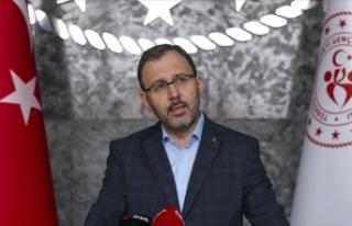 Gençlik ve Spor Bakanı Kasapoğlu federasyon başkanları...