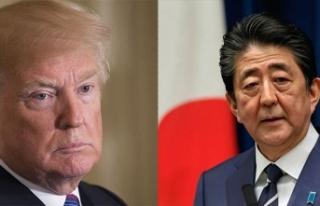 Japonya Başbakanı Abe ve ABD Başkanı Trump'tan...