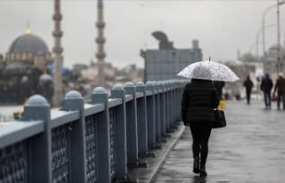 Marmara Bölgesi'nde aralıklı sağanak bekleniyor