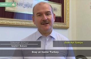 İçişleri Bakanı Soylu'dan videolu 'evde...