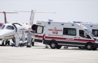 İsveç'teki Türk hasta ambulans uçakla Türkiye'ye...