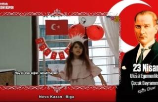 Konyaspor'dan sağlık çalışanlarının çocuklarıyla...