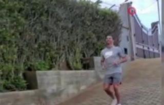 Ronaldo, sevgilisi ile antrenmanlarını sürdürüyor