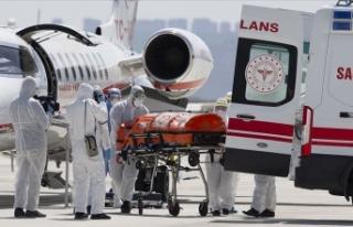 Türk hastanın ambulans uçakla Türkiye'ye...