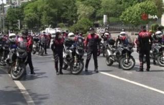 19 Mayıs'ın 101'inci yılında 101 motosikletli...