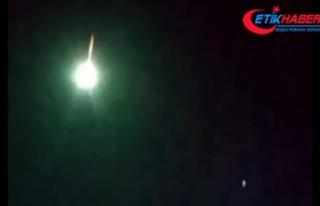Ardahan'da meteorun gökyüzünden kayma anı kameraya...