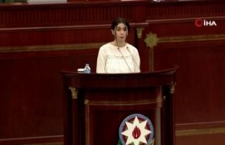 Azerbaycanlı kızdan Meclis'te duygulandıran konuşma