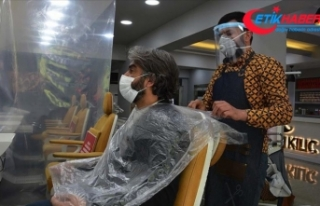 Berber, kuaför ve güzellik salonları yeniden faaliyete...
