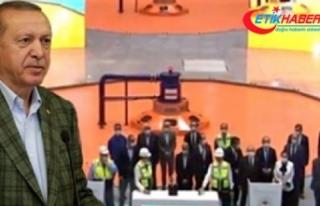 Cumhurbaşkanı Erdoğan açılış sırasında anında...