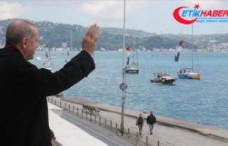 Cumhurbaşkanı Erdoğan fetih kutlamaları dolayısıyla...