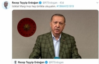 Cumhurbaşkanı Erdoğan, 19.19'da İstiklal Marşı'nı...