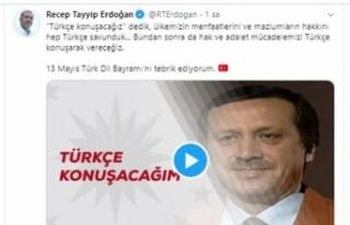 """Cumhurbaşkanı Erdoğan'dan """"Türk Dil Bayramı""""..."""