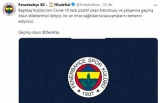 Fenerbahçe'den Beşiktaş'a geçmiş olsun mesajı