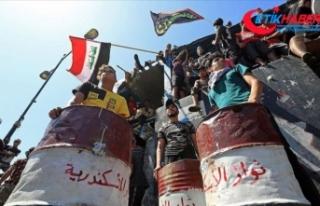 Irak'ta hükümet karşıtı gösteriler yeniden...